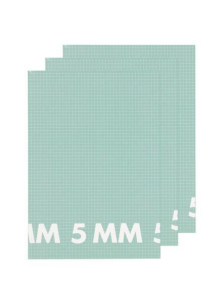 schriften A4 - geruit 5 mm - 3 stuks - 14101614 - HEMA