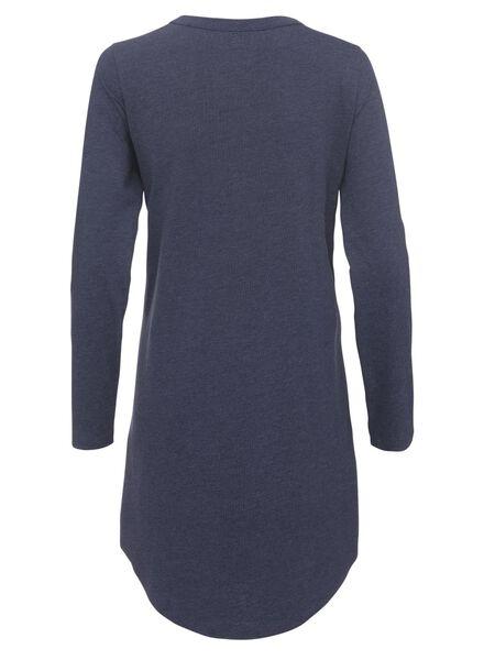 dames nachthemd katoen donkerblauw donkerblauw - 1000012246 - HEMA