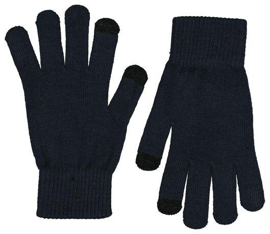 2-pak herenhandschoenen  touchscreen grijs grijs - 1000020396 - HEMA