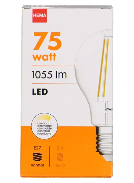 LED lamp 75W - 1055 lm - peer - helder - 20020010 - HEMA