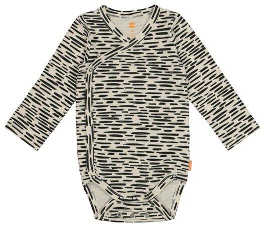 newborn overslagromper - met bamboe - stretch wit wit - 1000017648 - HEMA