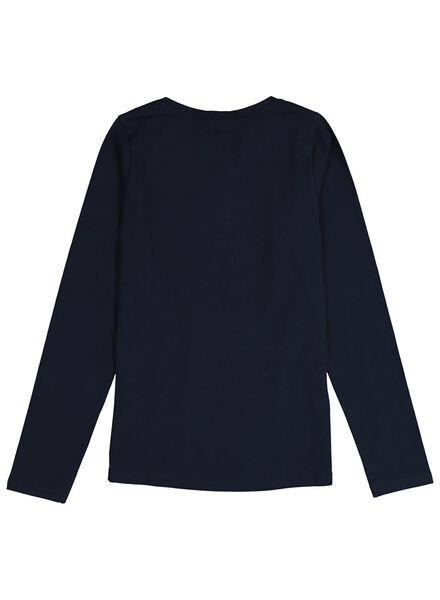 kinder t-shirt donkerblauw 158/164 - 30843662 - HEMA