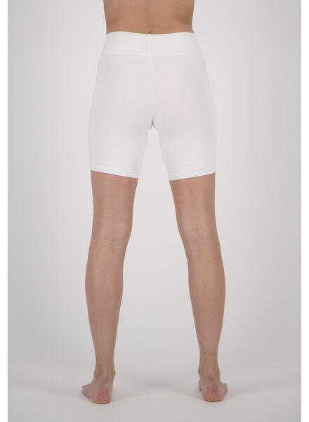dames fietsshort real lasting cotton wit wit - 1000013217 - HEMA