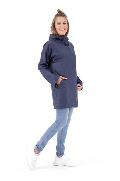 dames regenjas - waterproof blauw L - 36291073 - HEMA