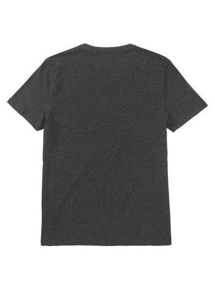 heren t-shirt donkergrijs donkergrijs - 1000009202 - HEMA