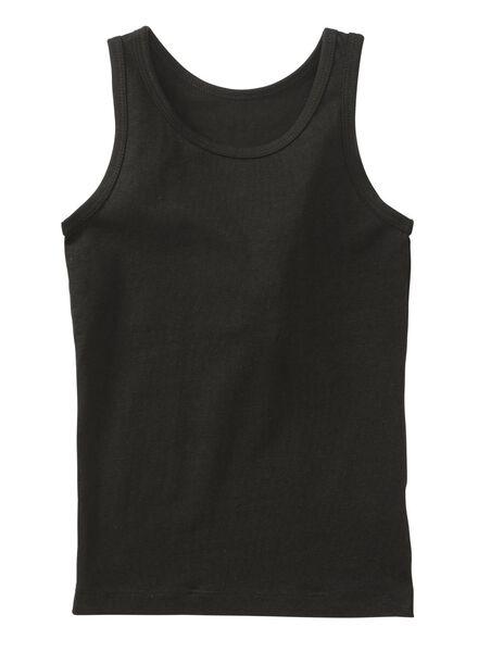 2-pak kinderhemden zwart zwart - 1000011621 - HEMA