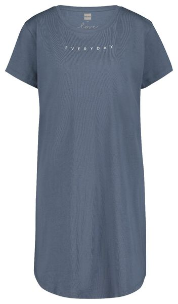 damesnachthemd everyday blauw S - 23400441 - HEMA