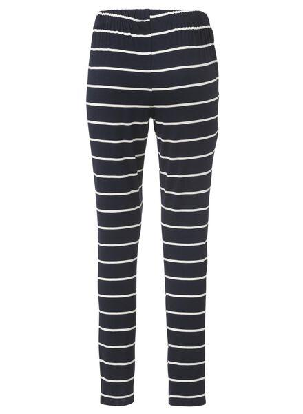 dames pyjamabroek donkerblauw - 1000006652 - HEMA