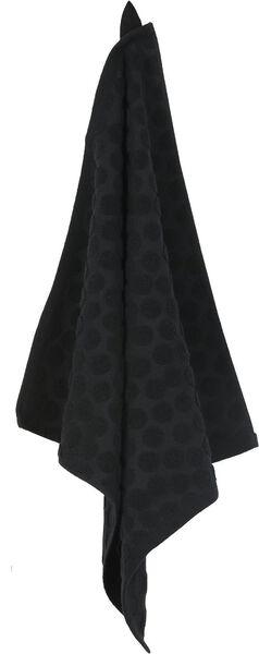 keukendoek 50 x 50 - katoen - zwart stip keukendoek zwart - 5440248 - HEMA