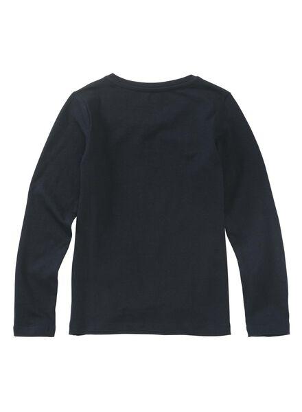 kinder t-shirt donkerblauw donkerblauw - 1000010994 - HEMA