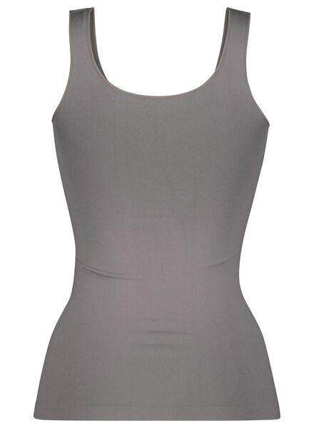 dameshemd naadloos micro grijs grijs - 1000015695 - HEMA
