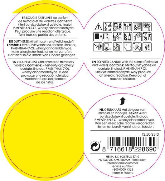 geurkaars in glas linen - 13502313 - HEMA