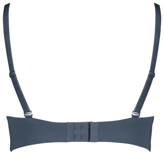 padded t-shirt bh zonder beugel micro recycled blauw blauw - 1000018704 - HEMA