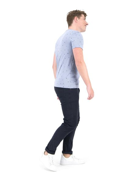 heren t-shirt lichtblauw lichtblauw - 1000014689 - HEMA