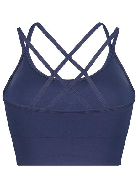 padded sport bh - naadloos donkerblauw donkerblauw - 1000016505 - HEMA