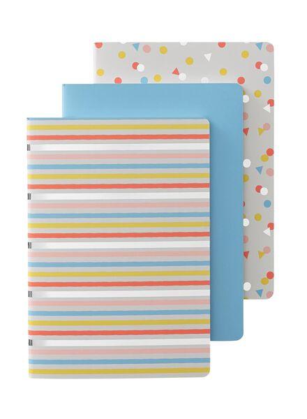 3-pak A5 notitieboekjes - 14101230 - HEMA