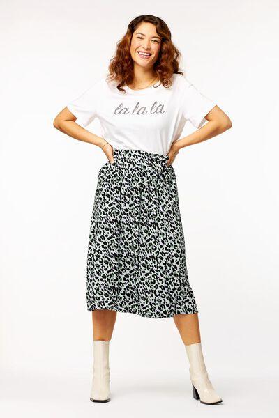 dames t-shirt lalala wi M - 36288082 - HEMA