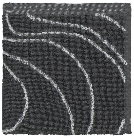 keukendoek - 50 x 50 - katoen - grijs golven - 5490040 - HEMA