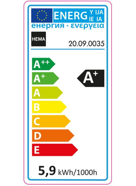 2-pak LED kogellampen 5,9 watt - grote fitting - 470 lumen - 20090035 - HEMA