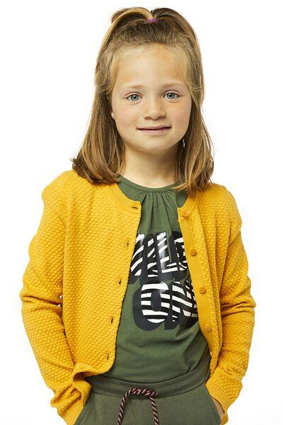 kindervest gebreid geel geel - 1000019894 - HEMA