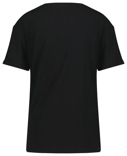 dames t-shirt stippen zwart L - 36334093 - HEMA