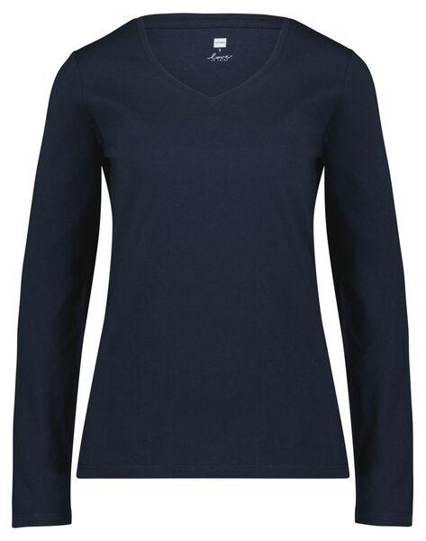 damespyjama ruiten donkerblauw S - 23421171 - HEMA