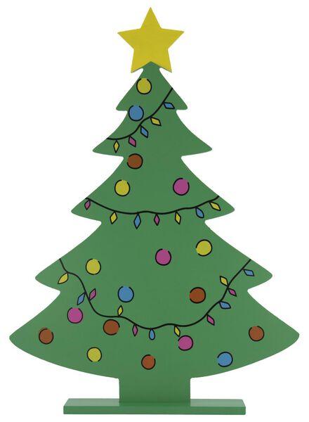 kerstboom hout - 4 x 32.5 x 45 cm - 25103037 - HEMA