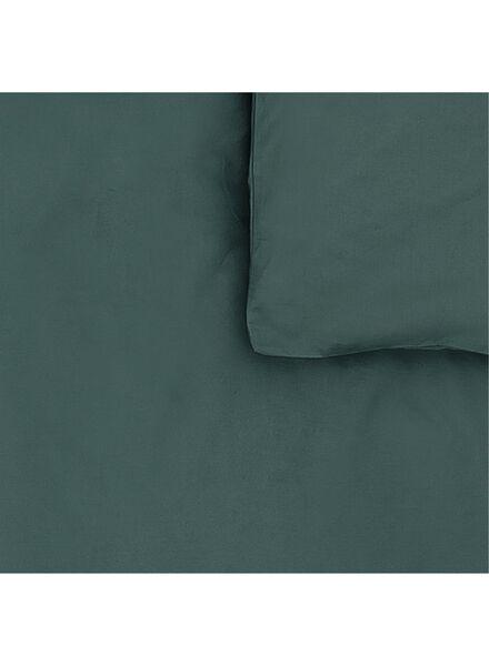 dekbedovertrek - zacht katoen - 200 x 200 cm - donkergroen uni donkergroen 200 x 200 - 5750053 - HEMA