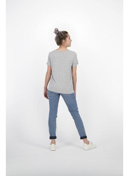 dames t-shirt lichtgrijs lichtgrijs - 1000013848 - HEMA