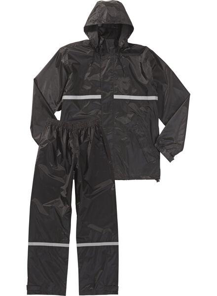 regenpak voor volwassenen zwart zwart - 1000006255 - HEMA