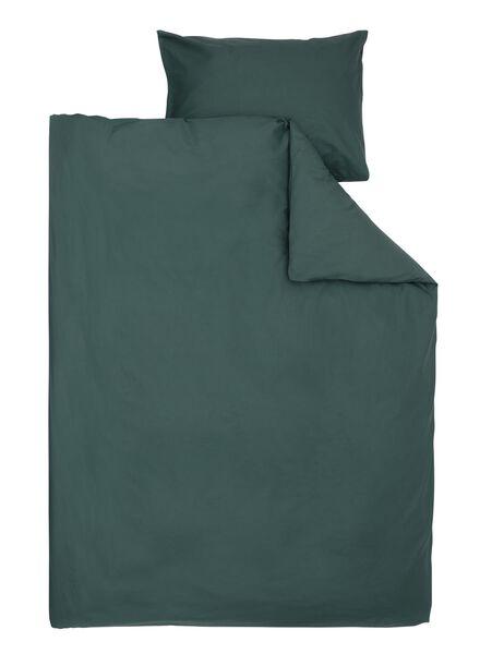 dekbedovertrek - zacht katoen - 140 x 200 cm - donkergroen uni - 5750052 - HEMA