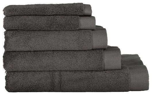 handdoeken - hotel extra zacht donkergrijs donkergrijs - 1000015155 - HEMA