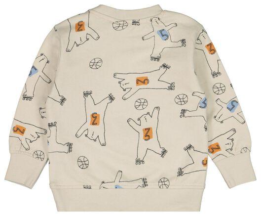 babysweater beren ecru - 1000022149 - HEMA