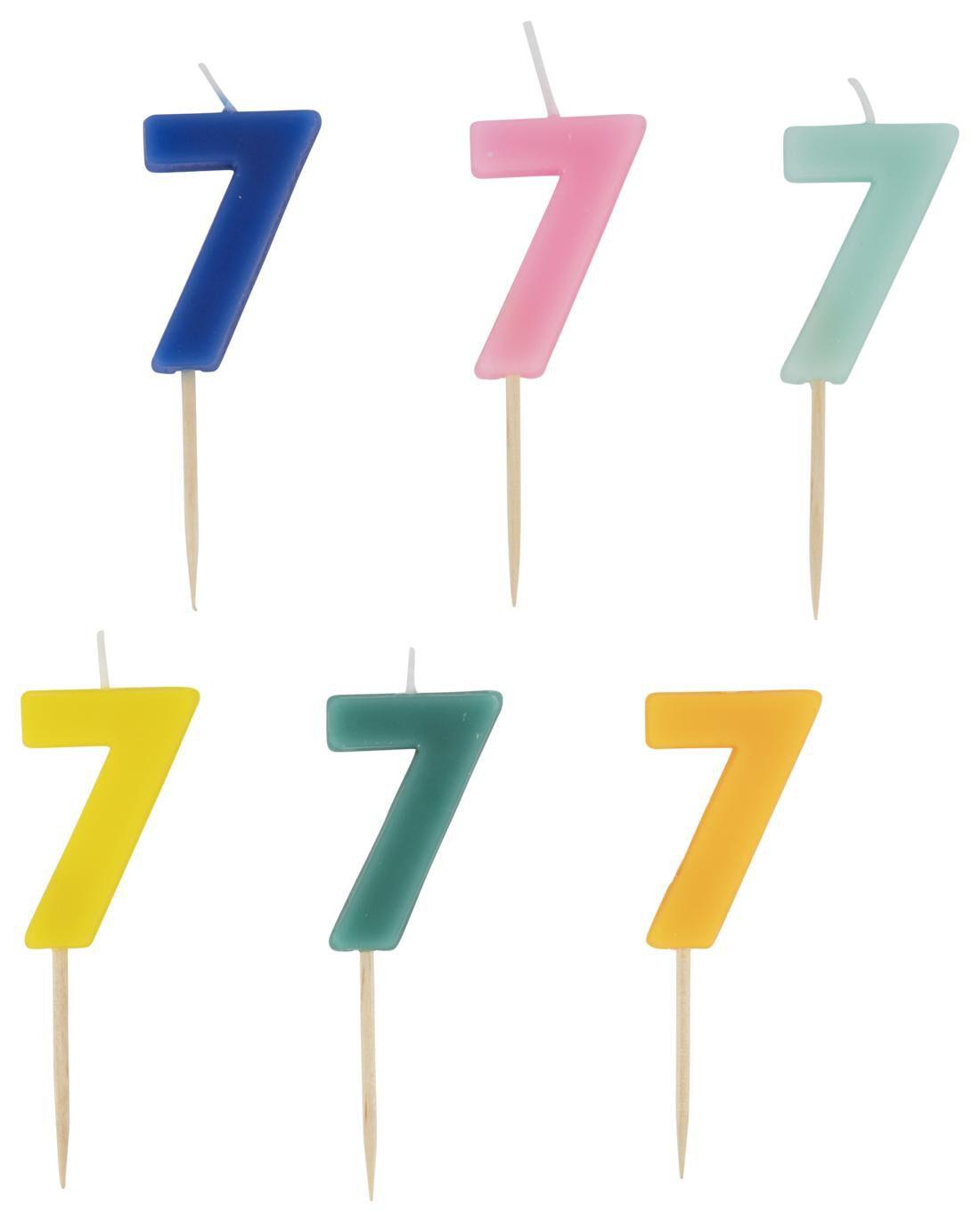 HEMA Taartkaarsje - Cijfer 7