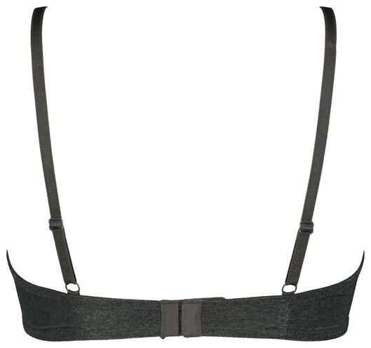 t-shirt bh's micro/recycled - 2 stuks grijsmelange 75C - 21820926 - HEMA