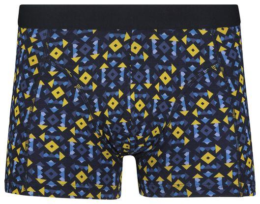 herenboxer kort katoen stretch donkerblauw donkerblauw - 1000018804 - HEMA