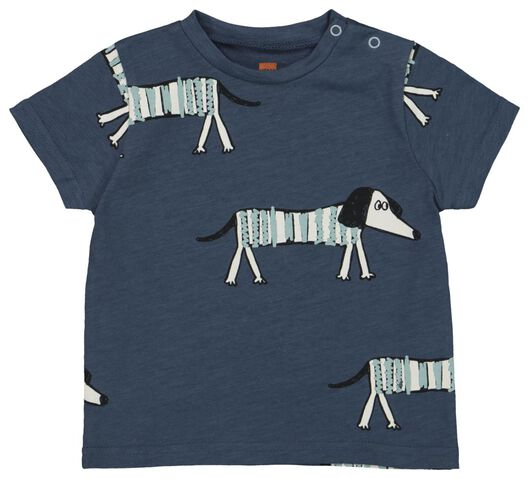 baby t-shirt blauw 98 - 33128207 - HEMA