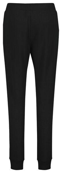 dames pyjamabroek sweat zwart L - 23400753 - HEMA
