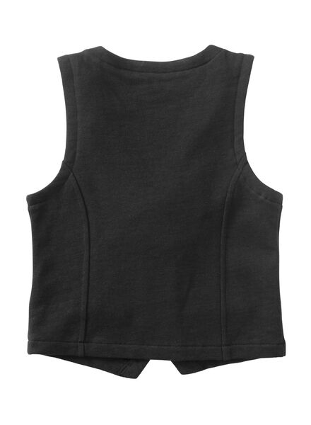 kinder gilet zwart zwart - 1000010559 - HEMA