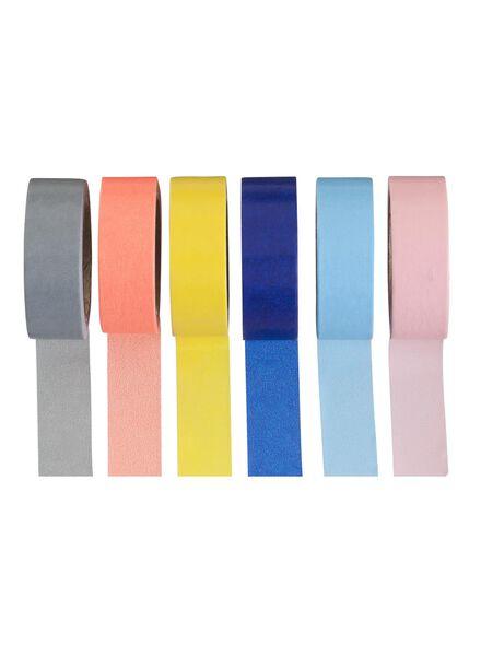 6-pak washi tape - 14800612 - HEMA