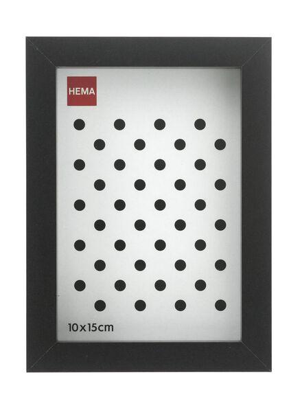fotolijst 10 x 15 - hout zwart 10 x 15 zwart - 13691018 - HEMA