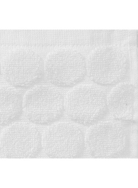handdoek - 50 x 100 cm - zware kwaliteit - wit gestipt wit handdoek 50 x 100 - 5240170 - HEMA