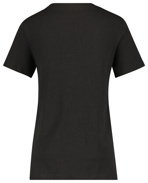 dames t-shirt met bamboe zwart zwart - 1000020083 - HEMA