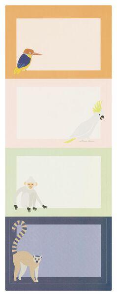 etiketten 5x7.5 dieren- 20 stuks - 14590355 - HEMA