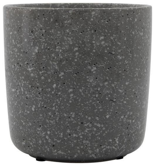 bloempot Ø13.5x13.5 aardewerk grijs - 13311037 - HEMA