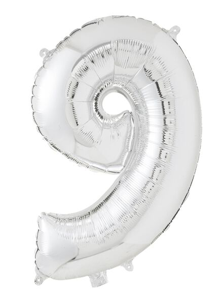 XL folie ballon cijfer 9 - 60800161 - HEMA