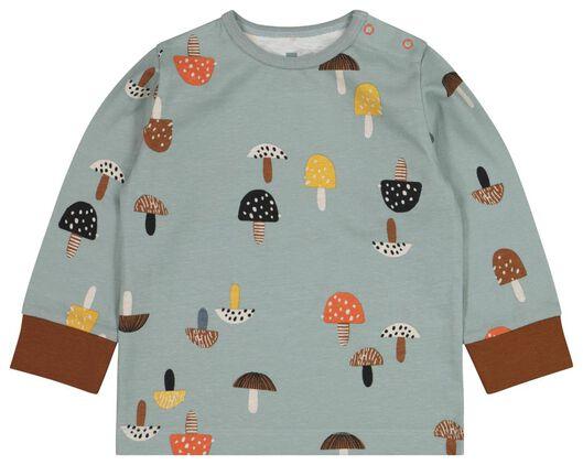 2-pak babypyjama's paddenstoel lichtblauw lichtblauw - 1000020634 - HEMA