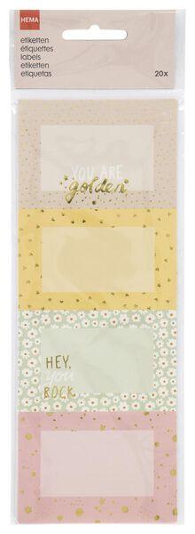 etiketten 5x7.5 bloem/hart- 20 stuks - 14590357 - HEMA