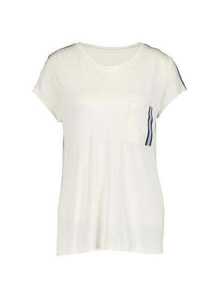 dames t-shirt gebroken wit gebroken wit - 1000014338 - HEMA