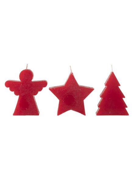 vormkaars engel kerstboom ster - rood - 13503443 - HEMA